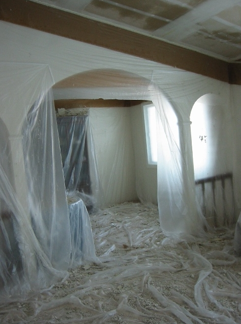 Thrailkill 39 s drywall services popcorn acoustic ceiling for Is there asbestos in old drywall